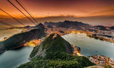 Rio de Janeiro during Sunset