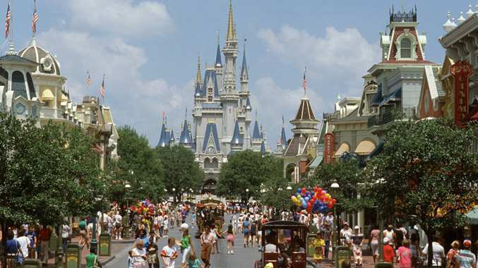 Disney World with Castle in background